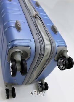 Nwt Bleu Valise Hardcase Spinner Valise Verticale Extensible 202630 3pcs / Set