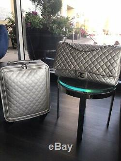 Nwt Coco Chanel Caviar Trolley Valise Bagages & Voyage Carry-le Set Sac XXL