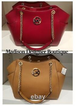 Nwt Michael Kors Jet Set Travel Large Chain Shoulder Tote, Cherry, Bagages