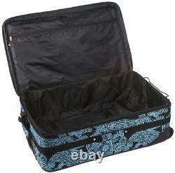Paisley Extensible 3 Pc Piece Luggage Set Pour Voyage À Côtés Souples Arrivée