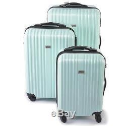 Penn 3 Piece Trolley Set Sac De Voyage Bagage Shockproof Suitcase Teal Nouveau