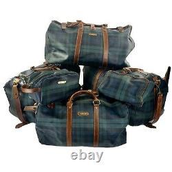 Polo Ralph Lauren Blackwatch Tartan 6 Piece Luggage Set Rare