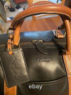 Pré Propriété Ralph Lauren Large Leather Duffel Weekend Travel Bag/briefcase Set