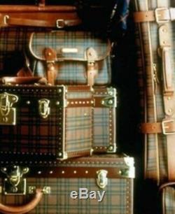 Ralph Lauren Sac Voyage Set Vanity Porte-tartan En Laiton En Cuir Plaid Boite Flacon