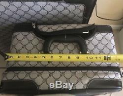 Ralph Lauren Signature Noir Gris Monogram 2 Pièces Luggage Set