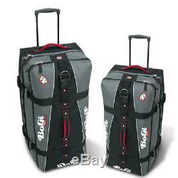 Reise Trolley 2 Koffer Set 85 + 110 Litre Grau / Schwarz Gepäck Set Bogi Bag
