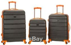 Rockland Bagages Hard-side Spinner Set Extensible, Abs Durable, Gris (3 Pièces)