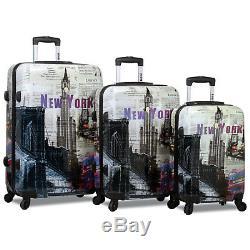 Rolite New York 3 Pièces Légère Spinner Luggage Set
