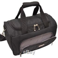 Rome 4pc Carry-le Rolling Duffel Rouleau Hardside Sac Amenity Kit Luggage Set