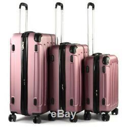 Rose Gold Hartschale Reise Koffer Trolley Kofferset Gepäck Reisekoffer 4 Räder