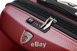 Rouge 100% En Polycarbonate 3 Pcs Spinner Luggage Set Hardshell Léger Tsa Verrouillage