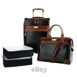 Samantha Brown Croco Embossed 4 Pc Luggage Set Lire Et Voir Les Couleurs