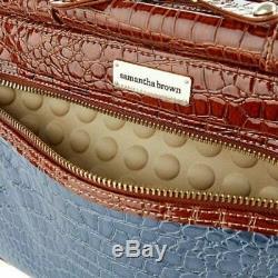 Samantha Brown Croco Embossed Bagages 4 Pièces Set Nu Nouveau