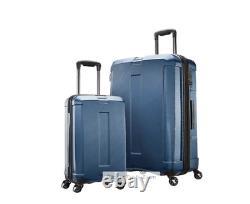 Samsonite Carbon Elite 2piece Hardside Luggage Carryon Spinner Set Usb Tsa 29/22