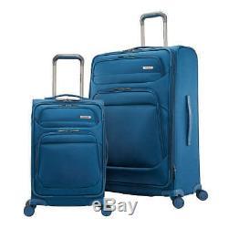 Samsonite Epsilon Nxt Softside Spinner Voyage Bagages 2pc Set Bleu Usagés