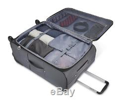 Samsonite Extensible 5 Pces Softside Spinner Luggage Set 25, 21 Et 3 Cube D'emballage
