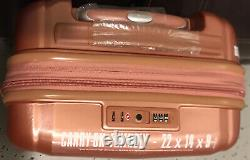 Samsonite Lite Lift DLX 3-piece Hardside Spinner Luggage Set Rose Gold Voir Pic
