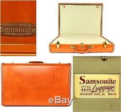 Samsonite Shwayder Bros Vtg Hardshell 4 Piece Set Suitcases Brown Honey Style