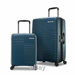 Samsonite Tech-2, 2 Pièces Hardside Valise Voyage Set Vacances, Ciel Bleu Uk- Nouveau