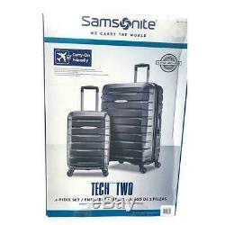 Samsonite Tech Deux 2.0 2 Pièces Hardside Luggage Set Argent 27 Et 21 (lecture)