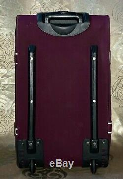 Secret Rose Rare Htf Victoria Maroon 3 Piece Logo Wheelie Carry-le Luggage Set