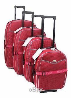 Set Léger De 4 Roues Valise Valises Trolley Bagages Sac Voyage