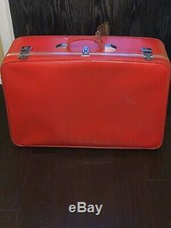 Set Red Vintage Amelia Earhart Bagages Withkeys Toute Nouvelle Offre Vendue Séparément