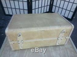 Set Vintage 3 Samsonite Valise Beige Bagages Sac De Voyage Vanity Case Train