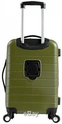 Smart Set Bagages Avec Usb Port De Charge Et Pliant Porte-gobelet, Vert (3 Pièces)
