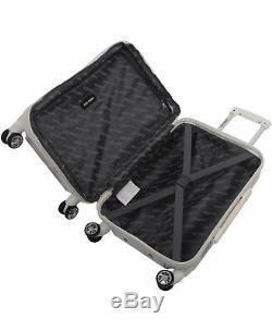 Steve Madden 3pc Luggage Set Cubic Hardside Valise À Roulettes Multidirectionnelles Extensible