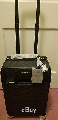 Tn-o Michael Kors Jet Set Voyage Chariot À Bagages Valise Noir Mk Logo