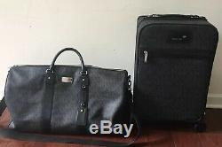 Tn-o Michael Kors Voyage Trolley Bagages Black & XL Duffle Set Détail 1316 $