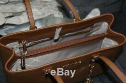 Tn-o Michael Michael Kors En Cuir Jet Set Voyage Grand Ew Sac Fourre-tout Bagages
