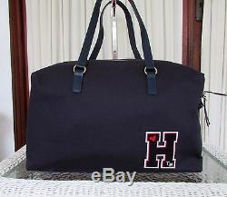Tommy Hilfiger Retro Lettre Varsity Weekender Duffle Backpack Set Sac Voyage Nwt