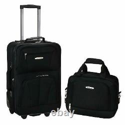Traveler Carry-on 2-piece Rolling Luggage Suitcase Sac À Main Extensible