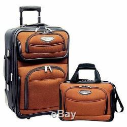 Traveler Choice Orange Amsterdam 8 Pièces Roue Bagages Valise Sac Emballage Cube Set