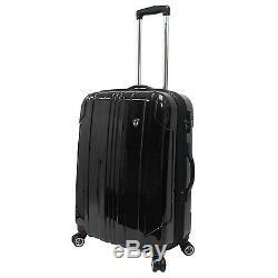 Travelers Choice Noir Sedona Hardside Polycarbonate Spinner Set Sac Bagages