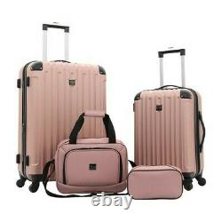Travelers Club Unisex 4-piece Luggage Value Set 26 Inches Rose Gold Size Osfa