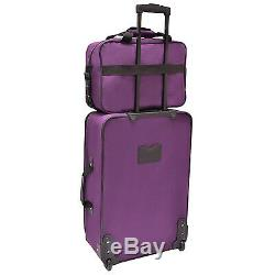 Travellers Choice Ultimate 5pc Purple Expand Bagage Valise Sac De Voyage