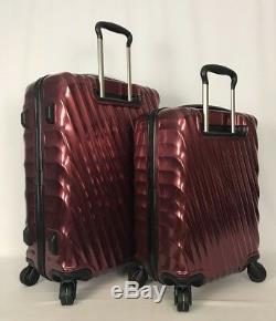 Tumi 19 Degré Court Voyage & Int'l Carryon Bordeaux Luggage Set 228664 & 22866