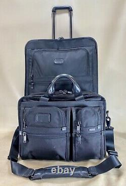 Tumi Exp Black Set 16 T-pass Slip & 24 Valise De Vérification Droite 2283d3 D'occasion