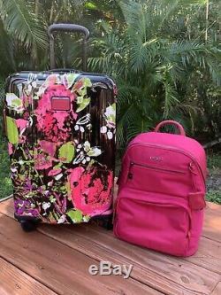 Tumi V4 Carry-on Collage Bagages Hagen Sac À Dos Floral International Magenta Set