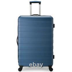 U. S. Traveler Bondi 3-piece Spinner Set De Bagages Avec Usb Smart Carry-on Dans La Marine