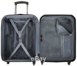U. S. Voyageur Bagages Smart Set Carry-le Spinner Avec Port Usb, Noir (2 Pièces)