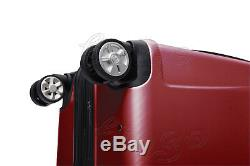 USA 20 24 28 3pcs Polycarbonate Set Voyage Bagages Spinner Valise Tsa Rouge