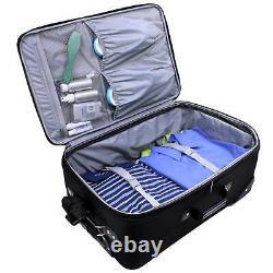 Us Traveler Blue New Yorker 3-piece Expandable Rolling Luggage Bag Ensemble