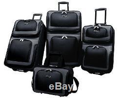Us Voyageurs New Yorker Argent 4pc Expandable Rolling Luggage Set Valise Voyage