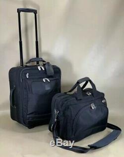 Utilisé Dakota Tumi Noir Carry On Set 16 Porte-documents Et 18 Valise Trolley