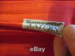 Valise Vintage Rare Samsonite Saturn Rouge, Valise 2 Pièces, Étui Rigide