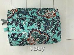 Vera Bradley Fan Fleurs Grand Duffel + Grande Marque Carry Bag On Set Up Voyage
